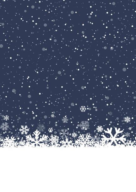 stockillustraties, clipart, cartoons en iconen met winter achtergrond - snowing