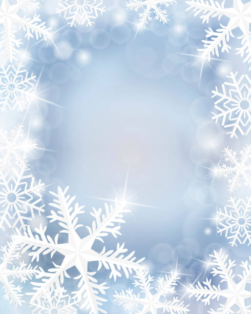 Winterhintergrund – Vektorgrafik