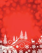 Red Christmas Background. EPS10 file. Transparency and mesh used. ZIP contains AI format, PDF and XXXLarge jpeg.