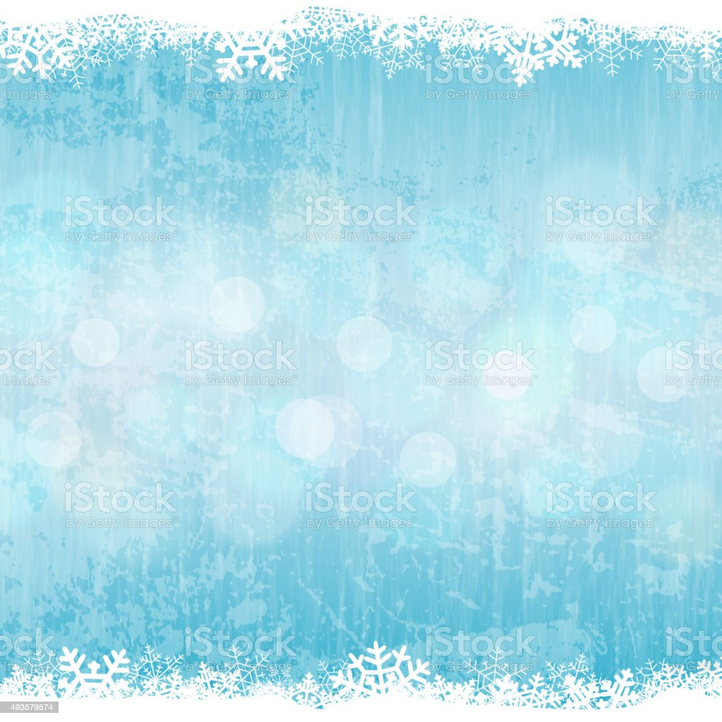 Winter background vector art illustration