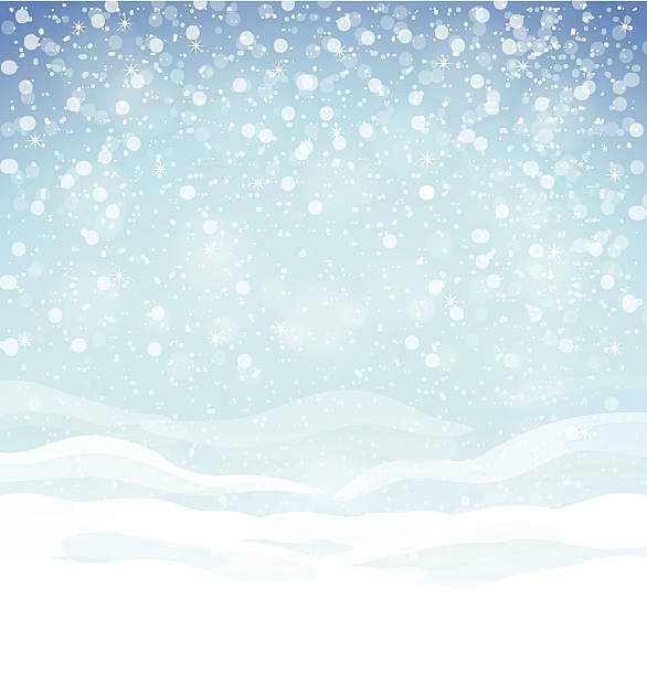 Winter background Beautiful winter background with blue skies, snow drifts and snowflakes snowdrift stock illustrations