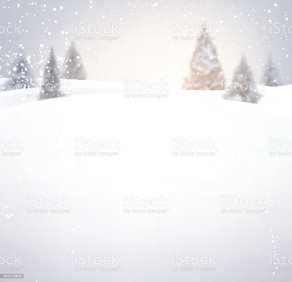 Winter background. vector art illustration