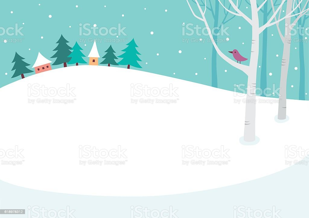 Winter Background Stock Vector Art & More Images of Bare ...