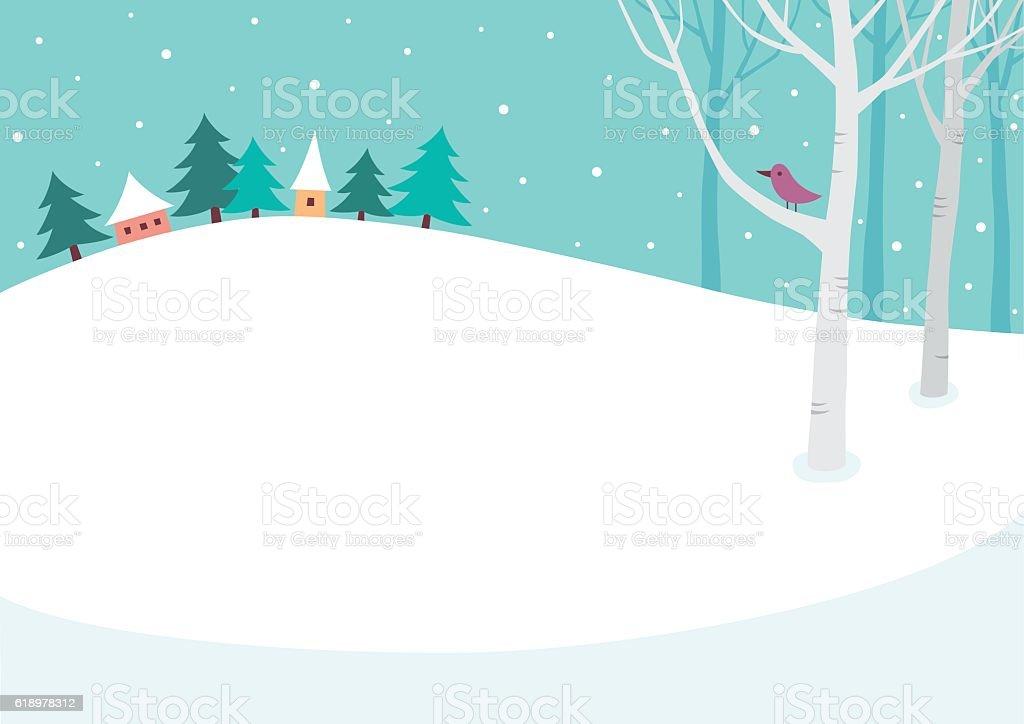 冬の背景 ベクターアートイラスト