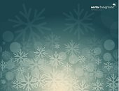 Vector of green color winter background with snowflake pattern. EPS ai 10 file format.