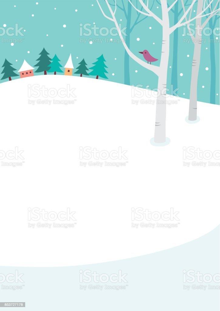 Fond d'hiver - Illustration vectorielle