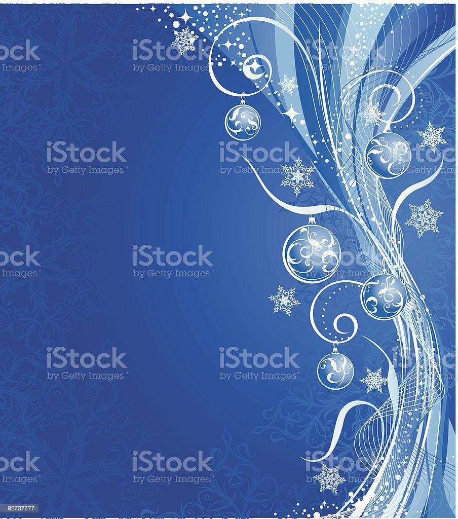 Winter Hintergrund mit Dekoration Lizenzfreies winter hintergrund mit dekoration stock vektor art und mehr bilder von abstrakt