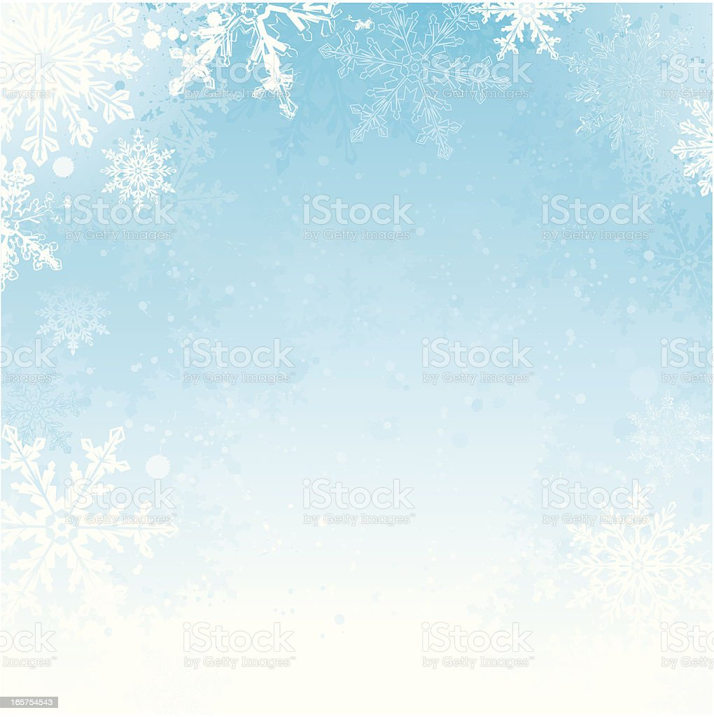 Winter background with grunge effect vector art illustration