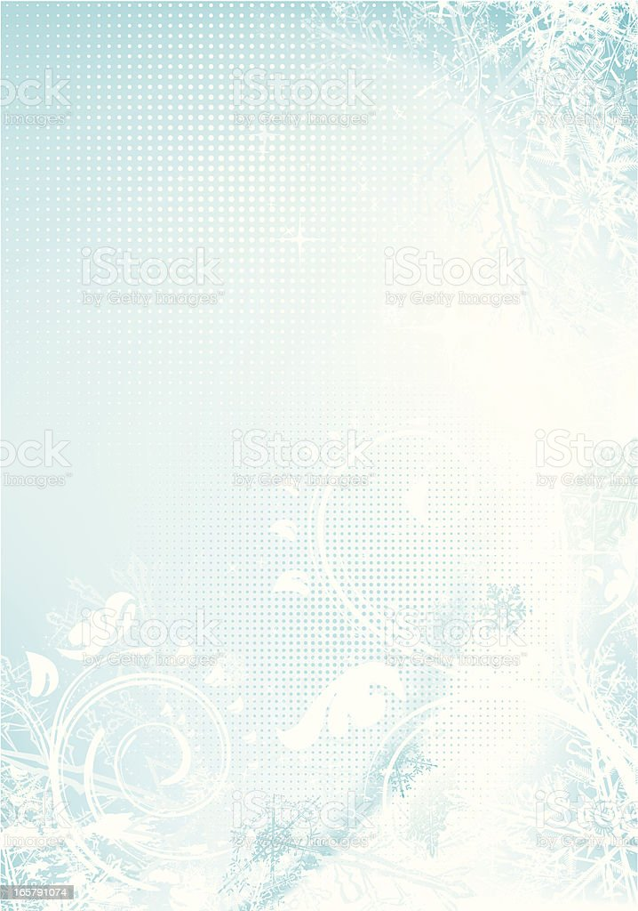 Winter background with halftone vector art illustration
