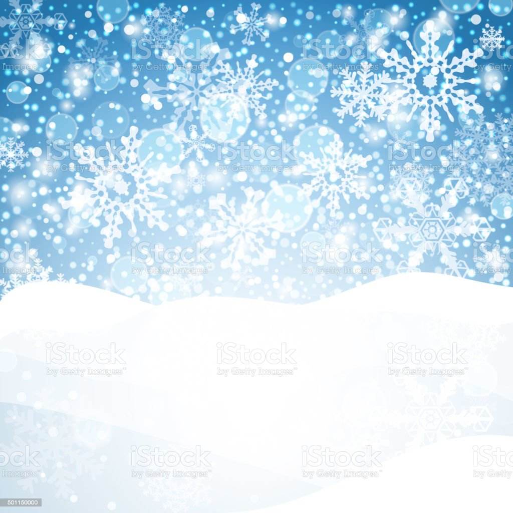 Snow For Christmas.Winter Background With Snow Christmas Snow Banner Vector Stock Illustration Download Image Now
