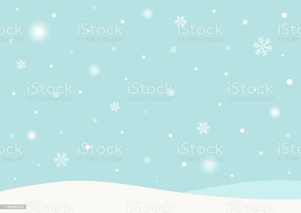 Winter achtergrond met sneeuw - Royalty-free Abstract vectorkunst