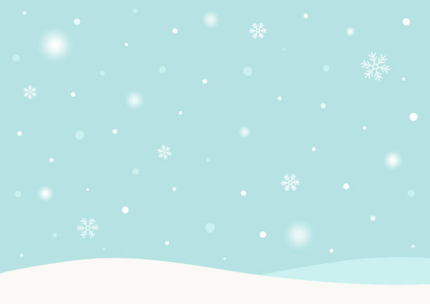 winterhintergrund mit schnee - schneefall stock-grafiken, -clipart, -cartoons und -symbole