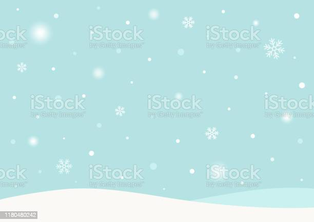 Winter Achtergrond Met Sneeuw Stockvectorkunst en meer beelden van Abstract
