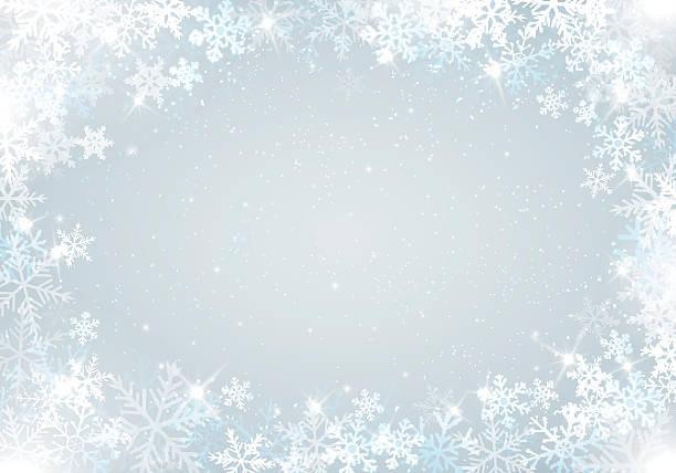 겨울맞이 배경 snowflakes - 서리 stock illustrations
