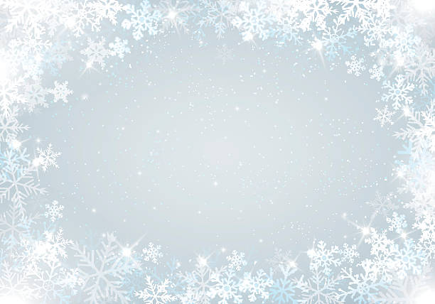 winter background with snowflakes - holiday backgrounds stock illustrations, clip art, cartoons, & icons