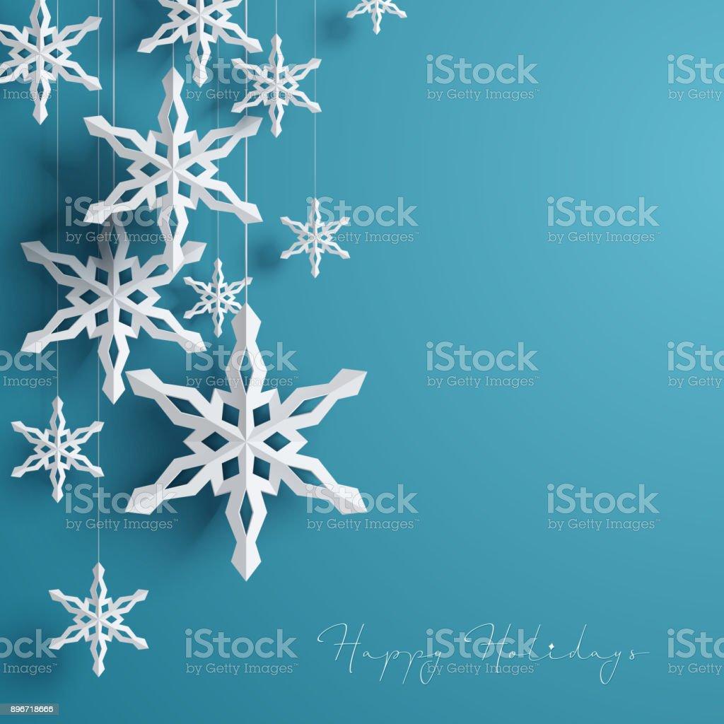 Fond d'hiver avec des flocons de neige fond dhiver avec des flocons de neige vecteurs libres de droits et plus d'images vectorielles de art libre de droits