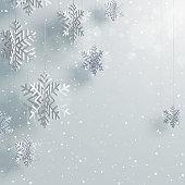 Paper 3d hanging Snowflake