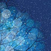 Winter background[Illumination and snow]