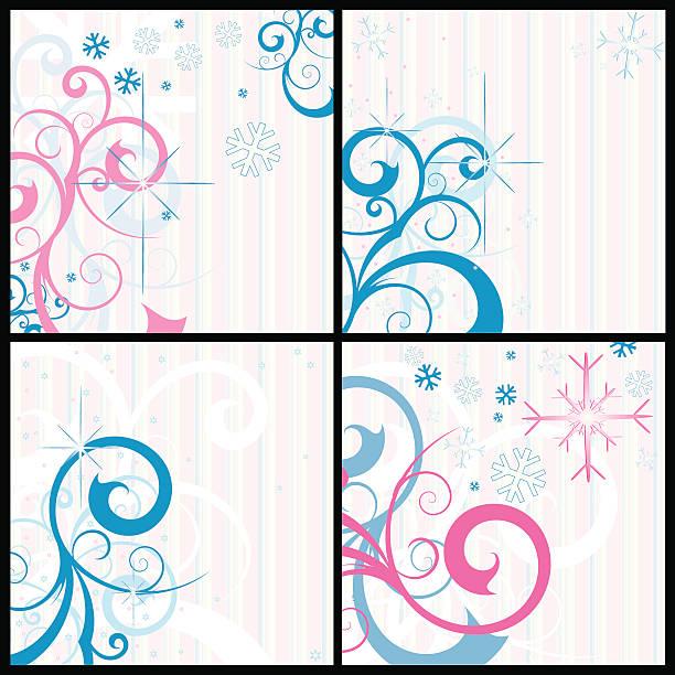 Winter backgrounds vector art illustration