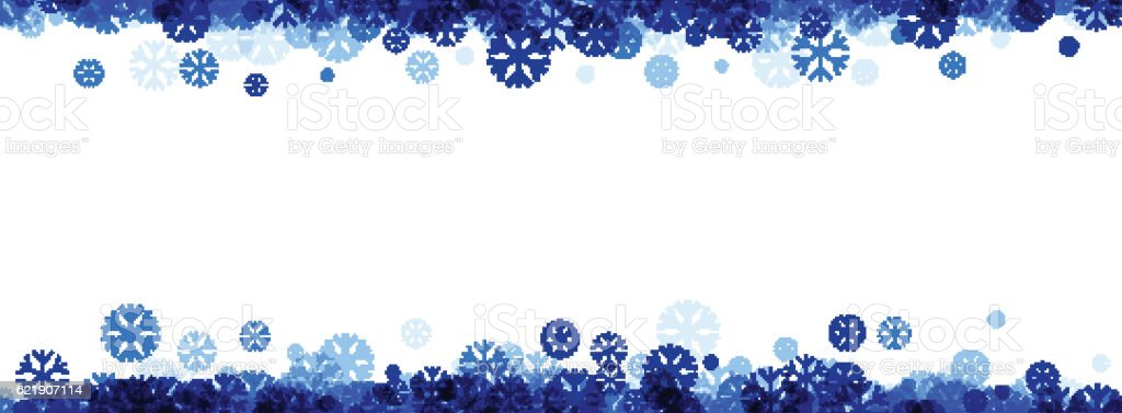 Winter Banner With Blue Snowflakes Stock Illustration ...