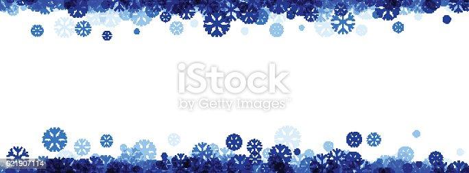 Winter Banner With Blue Snowflakes Stock Vektor Art Und Mehr Bilder