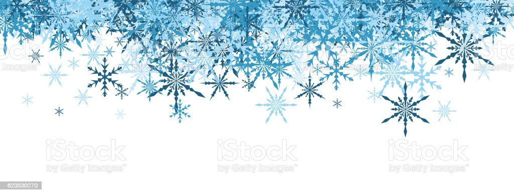 Winter Banner With Blue Snowflakes Stock Vector Art & More ...