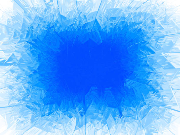 winter frost blauen hintergrund mit textfreiraum - gefroren stock-grafiken, -clipart, -cartoons und -symbole