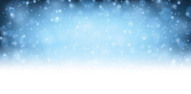 winter blue shining background. - holiday backgrounds stock illustrations, clip art, cartoons, & icons
