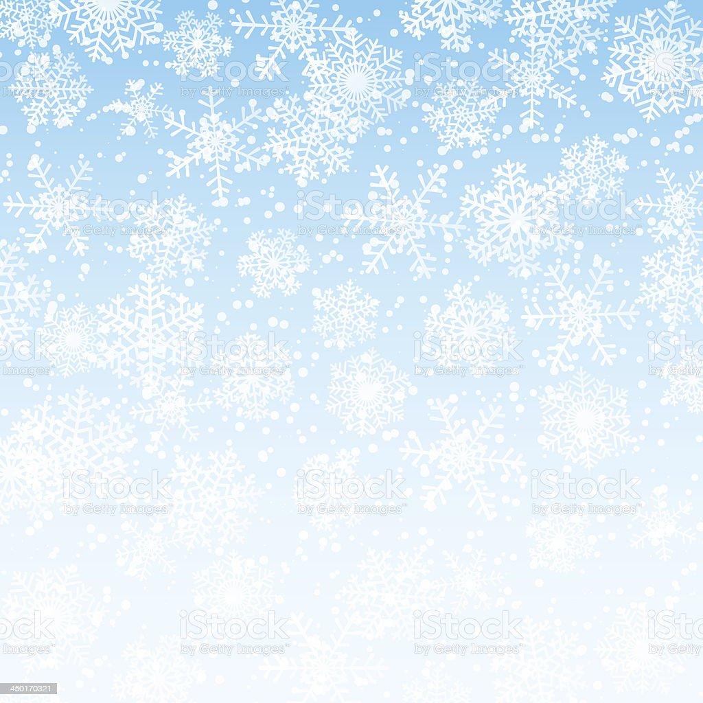 Winter blue sky royalty-free stock vector art