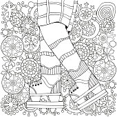 Adult Coloring Book Page Vertical Pattern For