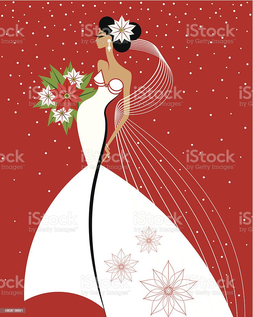 Winter Bride C vector art illustration