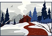 istock Winter Cabin 165047026