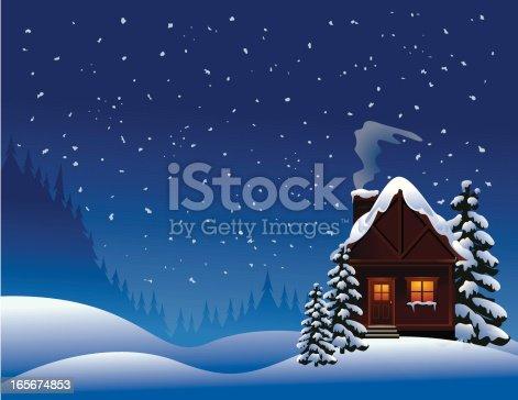 istock Winter Cabin 165674853