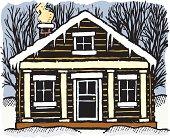 istock Winter Cabin 165687611