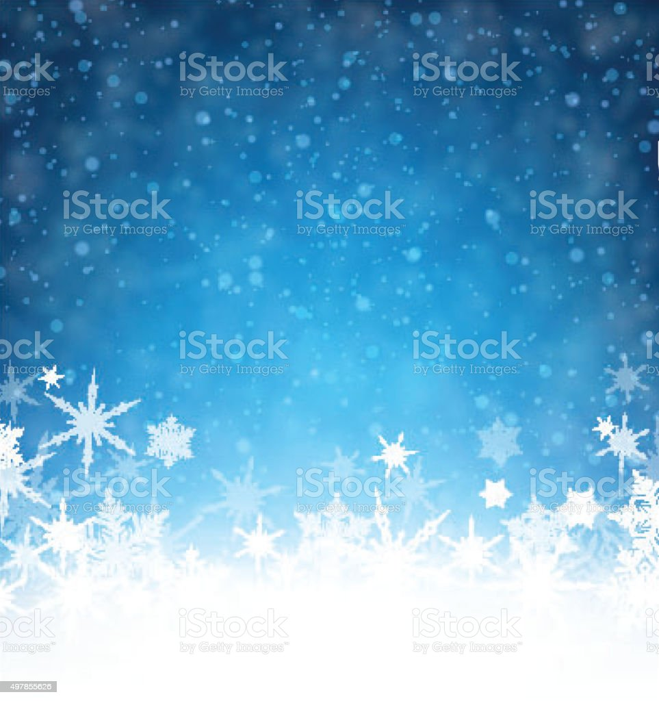 Winter card vector art illustration