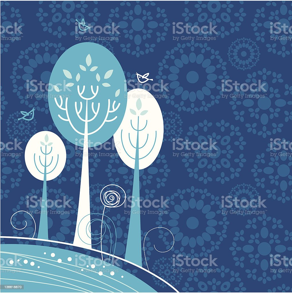 Winter cartoon background royalty-free stock vector art