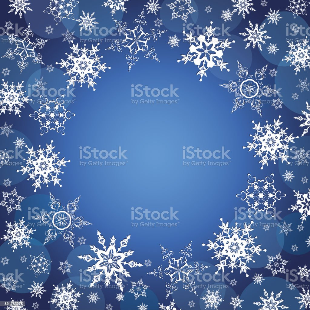 雪の結晶冬お祝い背景 のイラスト素材 864735078 | istock