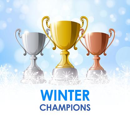 Winter Champion Trophies