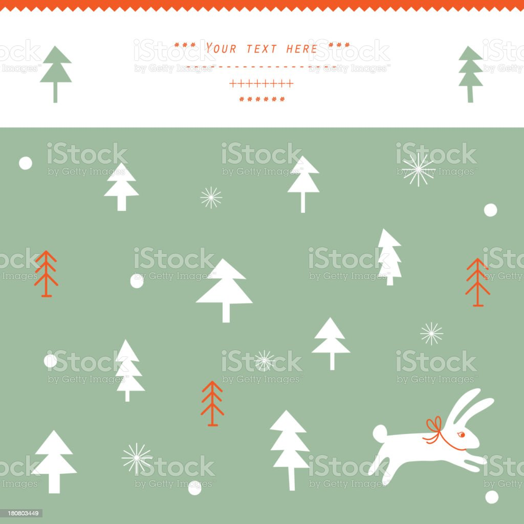 Winter Christmas background royalty-free stock vector art