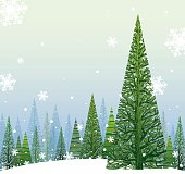 Elegant and beautiful Vector Illustration of a Winter Christmas Background with copy space for your message.