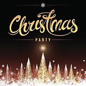 Winter Christmas party invite, poster or background vector