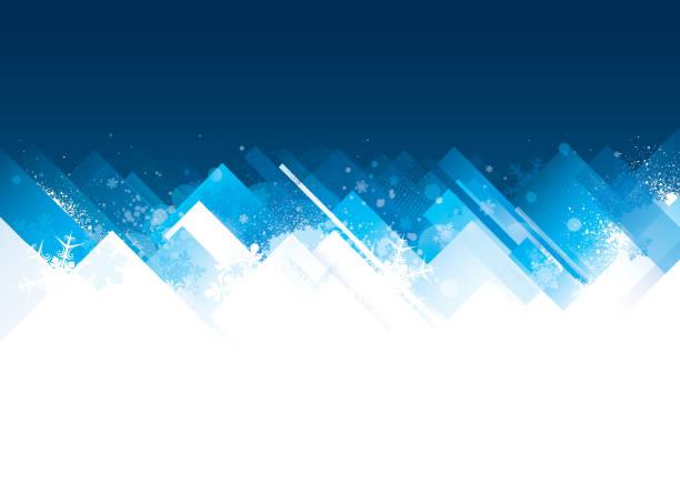 ilustrações de stock, clip art, desenhos animados e ícones de winter christmas background - ice