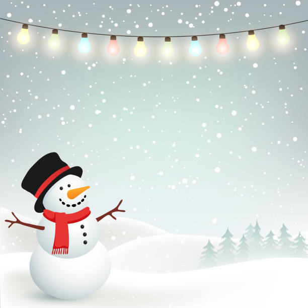 Winter Christmas Background with Snowman Winter Christmas background with snowman snowman stock illustrations