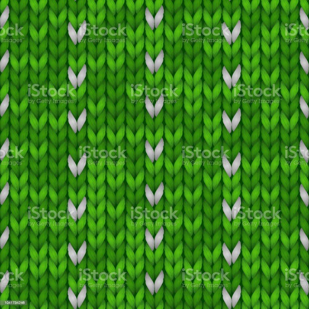 Hiver Noël Tricoté Sans Couture Fond Tricot Modèle Vert Avec