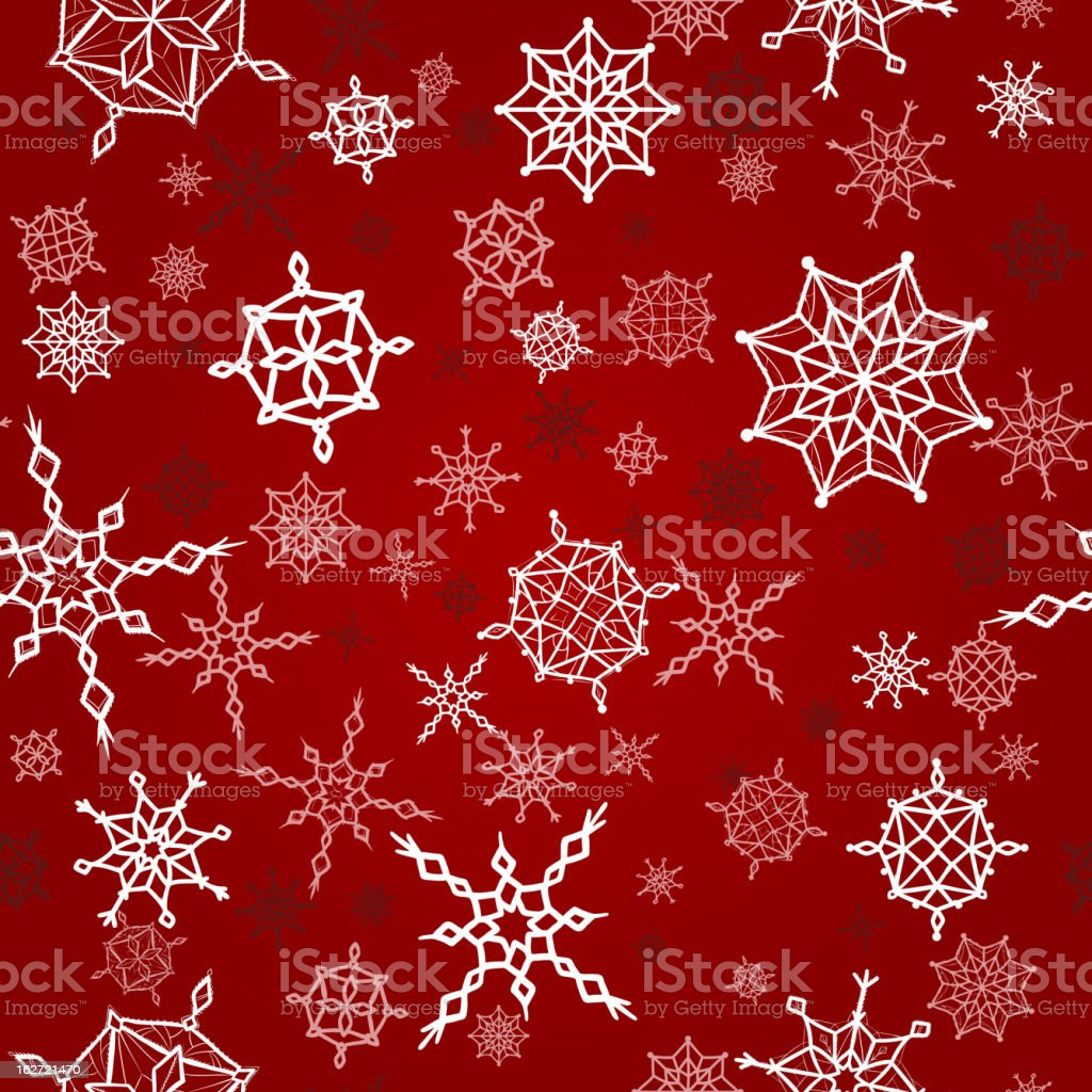 Winter, christmas, new year seamless pattern with snowflakes royalty-free stock vector art