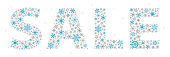 Winter Christmas Sale Snowflakes Text - Vector illustration