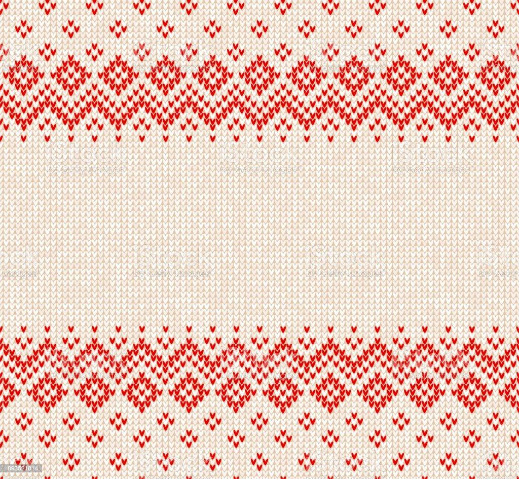 Invierno Navidad Escandinava De Punto Frontera Y Marco Antecedentes ...