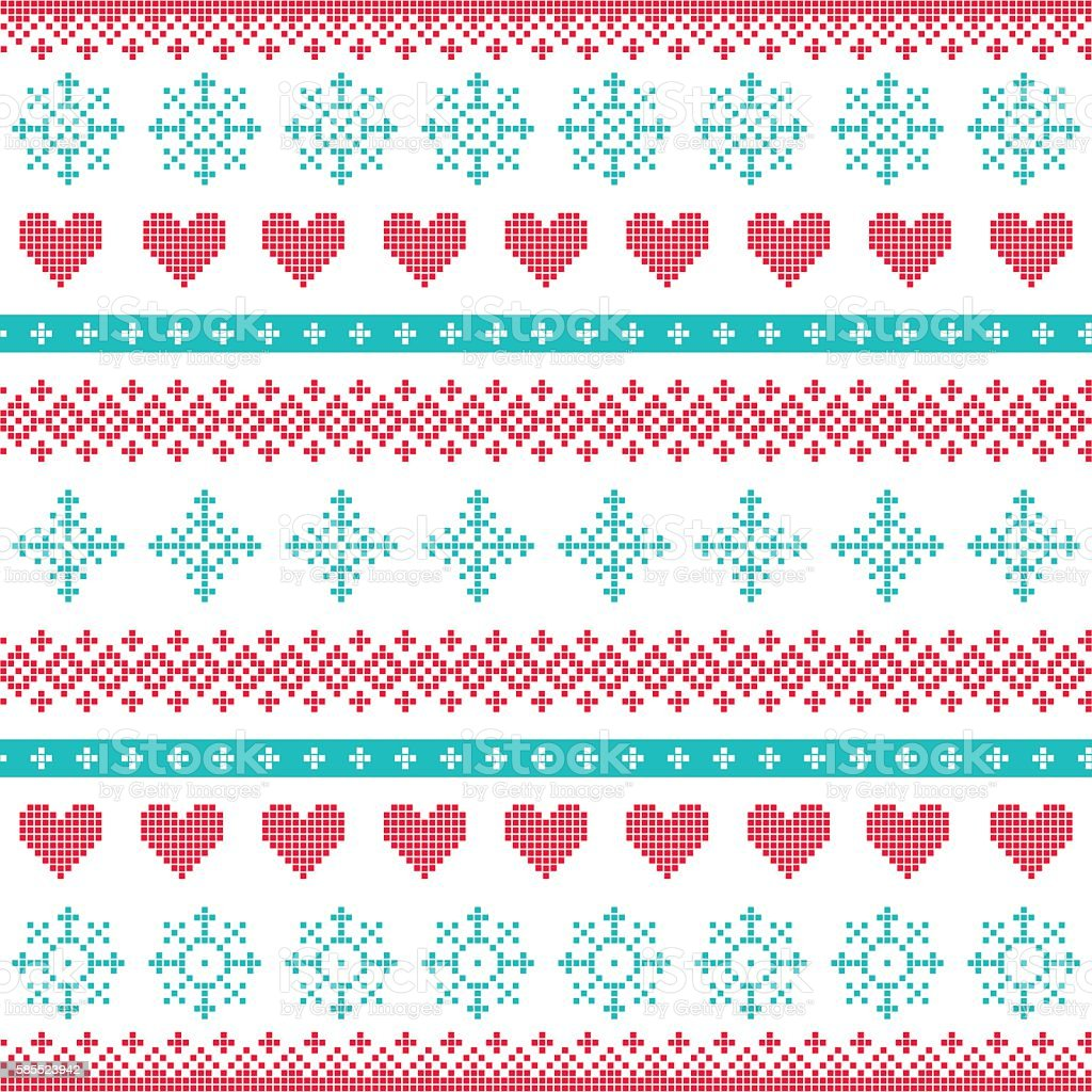 Ilustración de Invierno Navidad Sin Costura Pixelado Patrón Continuo ...