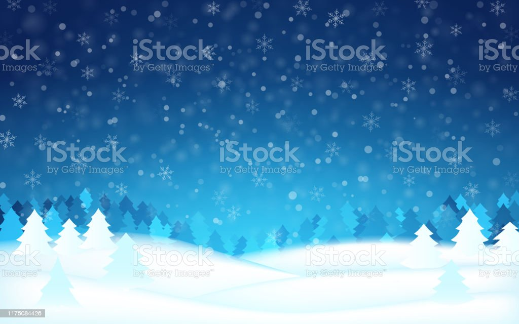 winter christmas snow blue tree background vector vector id1175084426