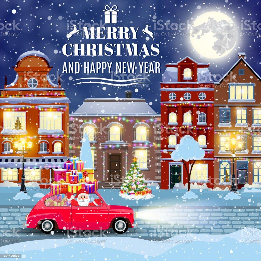 winter city street with trees and car winter city street with trees and car – cliparts vectoriels et plus d'images de arbre libre de droits